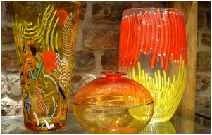 Murano Glass Vases, Authentic Murano Glass Vases, Modern Murano Glass Vases, Murano Glass Vases at Ex Chiesa Santa Chiara, Modern Murano Glass Vases, Yellow Murano Glass Vases, Orange Murano Glass Vases, Modern Murano Glass Vases