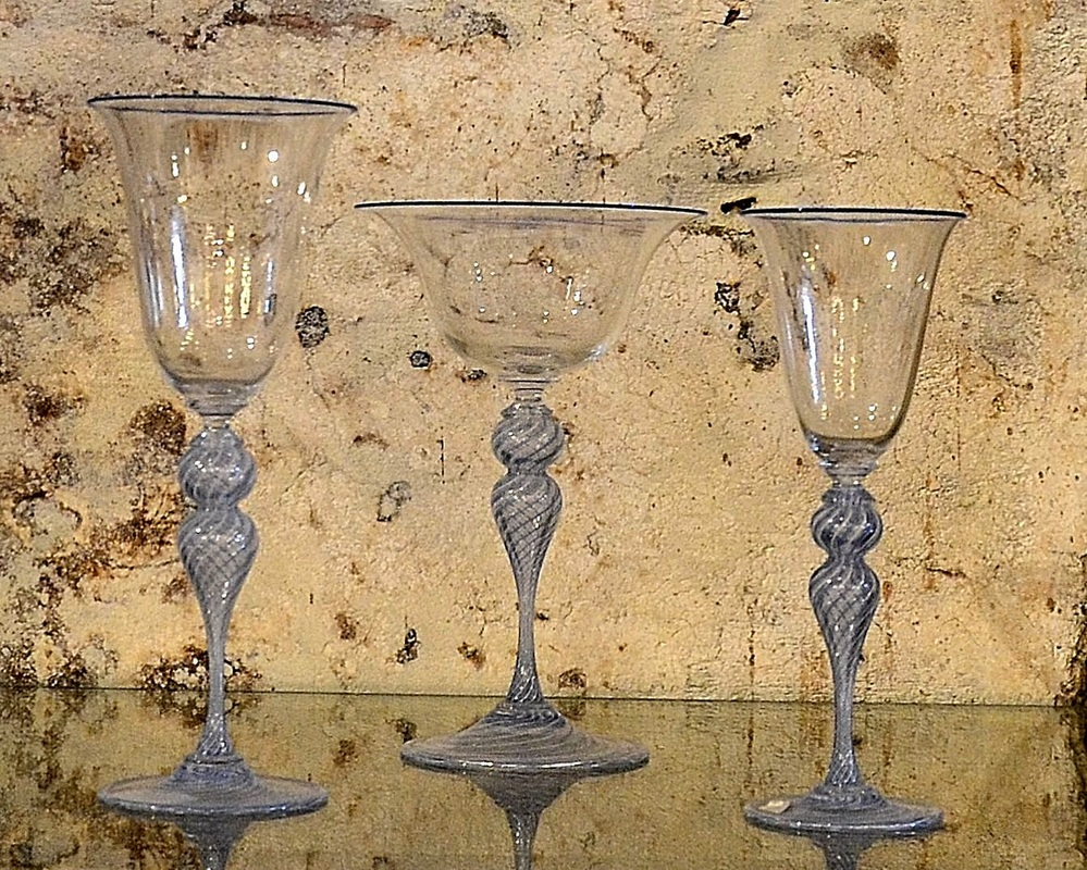 Murano Glass Glasses, Murano Glass Wine Glasses, Murano Glass Goblets, Real Murano Glass, Ex Chiesa Santa Chiara Murano, Shopping on Murano, Shopping for Murano Glass